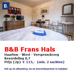bed and breakfast frans hals Haarlem
