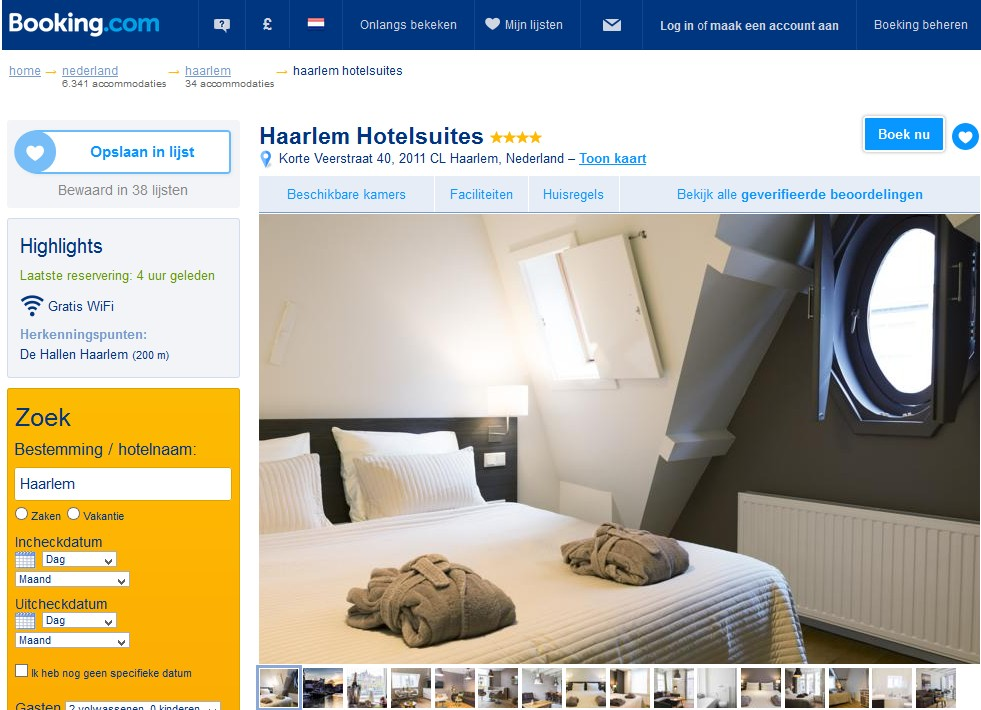 bed and breakfast haarlem hotelsuites